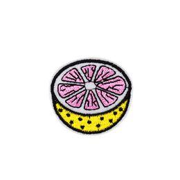 Limón diy online-10 UNIDS Limón Parches Bordados para la Ropa de Hierro en Transferencia Parche de Fruta para Jeans Bolsas DIY Coser en Pegatinas de Bordado