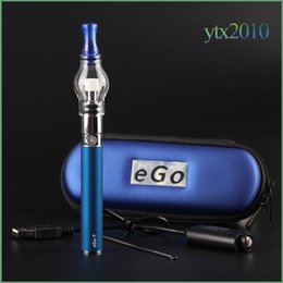 Wholesale Plastic Case For Ego - Glass globe tank for wax dry herb vapor atomizer Electronic cigarette M6 EGO-T Zipper case battery Clearomizer E-cigarette Zipper Case