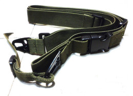 Wholesale wholesale tactical gear - 2pcs 3 Point tactical Gear Sling adjustable sling strap belt for Airsoft Gun hunting rifle Army green