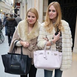 Wholesale Woman Winter Coats Cheap - 2016 Winter Faux fur Coat imitation Rabbit fur Jacket Black White Pink casual long Cheap women Clothing plus szie Overcoats H6 manteau