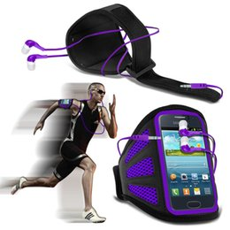 Wholesale Case Cover Fame - Wholesale-For Samsung Galaxy Fame S6810 Mesh Breathing Holes Cell Phone Running Sport Armband Belt Bags Cases Cover Earphone
