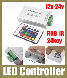 led-streifen aluminium Rabatt rgb led controller 24 schlüssel ir fernbedienung mini rgb control box aluminium ase für led streifen 5050 3528 wireless rf remote control DT008