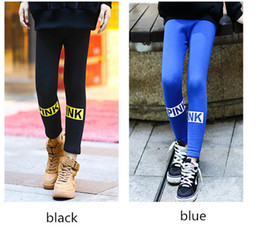 Wholesale Kids Shiny Leggings - 2-14 Years Girls Skinny Long Pants Shiny Black blue Pink Children Bottoms Leggings Kids Elastic Trousers All-matches Leggings christamas