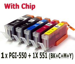 Wholesale Pixma Printers - 5 ink cartridge ( 1set ) compatible PGI-550 BK CLI-551 for canon Printer Pixma MX925 MX725 MG5450 MG5550 MG7150 MG6450 IP8750