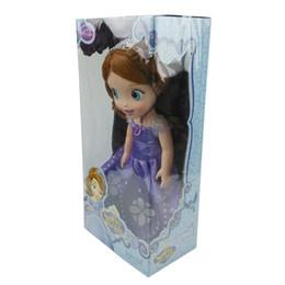 Wholesale Wholesale Sofia First - Sofia Princess Dolls Sofia the First Princess PVC Doll with Retail Box 30cm 12 inches Free EMS Shipping