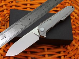 Wholesale Water Cnc - The trend of the titanium knife Water droplets blade CNC cutting Beautiful lines High quality folding knife Tactical knife