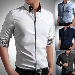 Wholesale Hot Fashion Long Sleeve Dresses - New Fashion Spring Autumn Hot Sale men long sleeve shirts men dress shirt men shirt Men's Clothing