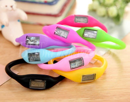 Wholesale Time Zone Wrist Watches - Anion Health Sports Wrist Digital Bracelet Silicon Unisex Rubber Jelly Ion Watch Mixed Colors Free DHL Fedex UPS Factory Price