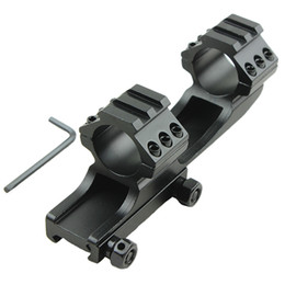 Wholesale Cantilever Scope Mounts - Funpowerland Hot Sell High Quality black color 25.4mm Dual Ring Cantilever Heavy Duty Scope Mount Picatinny Weaver Rail