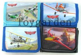 Wholesale 12 Coin Purses Wholesale - Free Shipping 12 pcs lot!!! Pixar Planes Cartoon boy's Purse coin purse folding Wallets Zero wallets with zipper