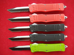 Wholesale Black Nylon Bags - Black Red Green MT A161 616 double action Tactical knife Plain   Serrated Tanto point A162 pocket knife knives w  nylon bag & box