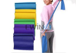 Wholesale Exercise Stretch Resistance Bands - 1.5m Stretch Resistance Band Exercise Pilates Yoga GYM Workout Physio Aerobics New and Hot Selling