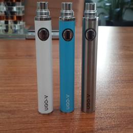 Wholesale Ego T Battery Fashion - New fashion Electronic cigarette ego uGo-v battery uGo-v e cigarette Pass through battery bottom charge with 650 900mah CE4 ego-t