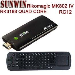 Wholesale Rc12 Rk3188 - Wholesale-free shipping Rikomagic MK802IV RK3188 Quad Core Android 4.2.2 2gb ram raspberry pi mini pc with air mouse keyboard RC12