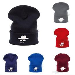 Wholesale Crochet Skull Hat Free Pattern - Wholesale - 200pcs Fashion Winter Bonnet Hat Knitting Beanie Cowboy Hat Caps Unisex Beard Pattern Gorro Crochet Headgear