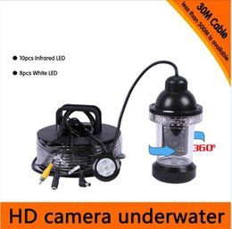 Wholesale Depth Finders For Fishing - 20Meters Depth 360 Degree Rotative Underwater Camera with 18pcs of White or IR LED for Fish Finder & Diving Camera Application