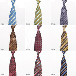 Wholesale Tie Styles For Men - New Arrival In stock Ties for Men 100% Silk Necktie Fashion Accessories Formal Men Tie Mix Style Free Shipping 77011-77020