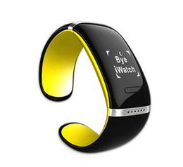 Wholesale Oled Iphone - Hot L12S OLED Touch screen Bluetooth 3.0 Bracelet Wrist Watch for IOS iPhone Samsung and Android Phone u8 Smart Watch DHL free
