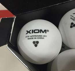 Wholesale Pingpong Balls - Wholesale- 12 balls XIOM New material 3 star 40mm+ Pingpong Balls Table Tennis ball Tenis De Mesa 82021