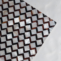 piscina blu colore Sconti [SPEDIZIONE GRATUITA] Colore naturale MOP shell Tile, mattonelle senza soluzione di continuità per la parete, pavimento, decorazione mobili, guscio di fiume Materiale guscio di penna # MS139