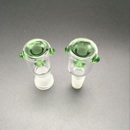 Wholesale Round Glass Bowls - Glass Bowl with Honeycomb Screen Round 14mm and 18mm Female Male joint 3 Color optional fit for Glass bongs Glass water Pipe