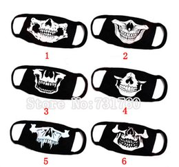 Wholesale Skull Dust Caps - Wholesale-Black Unisex Cycling Anti-dust Cotton Skull Mouth Mask Halloween