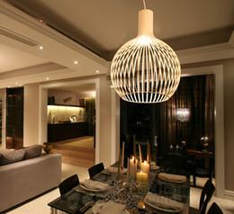 Wholesale Beige Bedroom Designs - New Modern Design Pendant Lamp Cage Light Fixture suspension lighting ceiling lamps black white beige color diameter 25cm 29cm 38cm