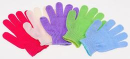 Chuveiros directos da fábrica on-line-Fábrica direto esfoliante luvas luvas de banho Cinco dedos Banho Luvas Pele Corpo Banho Chuveiro Bucha Esponja Mitt Matagal Massagem Spa