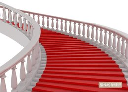 Wholesale Red Carpet Backdrops - 20m Per lot 1m Wide Red Carpet Aisle Runner For Romantic Wedding Favors Party Decoration 2015 New Arrival