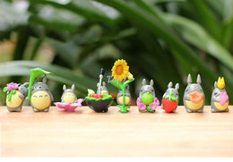 Wholesale child models hot - Christmas gifts 9Pcs Lot Cute Style Kids Hot Anime My Neighbor Totoro Action Figures PVC Toys Totoro Model Toy Juguetes Gift For Children