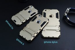 Wholesale Stand Man Iphone - Defender Iron Man PC TPU Iron Man Hybrid Stand Case Cover For iPhone 5 5S 6 Plus iPhone6 Samsung Galaxy Note 4 S6 Edge HTC M9 LG G4