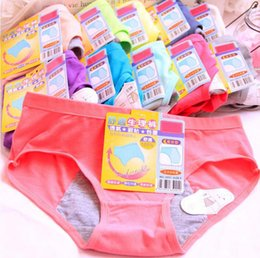 Wholesale Menstrual Leaks - Young Girl Intimates Physiological Panties Menstrual Sanitary Period Leak Proof Modal Seamless Panty Underwear