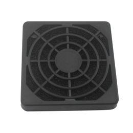 Wholesale Fan Filter Mesh - Wholesale- CAA-2 Pcs Black Plastic Square Dustproof Filter 40mm PC Case Fan Mesh