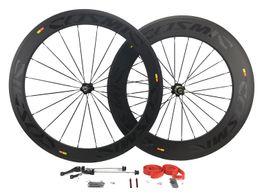Wholesale Wheels Carbon Clincher - 700C 60mm 88mm Road Bicycle Wheelsets Clincher Carbon Fiber Road Bike Wheels with Novatec Hubs Sale 23mm Width