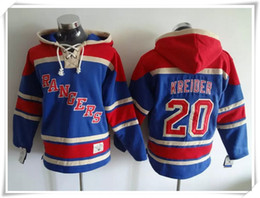 Wholesale order hoodies - Hoodies Jerseys Men ICE Hockey Rangers #20 Kreider Blue Best quality stitching Jerseys Sports jersey Mix Order