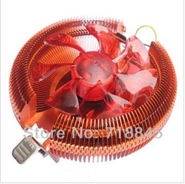 Wholesale Intel 775 Cooler - Wholesale- Wholesale New GKD 90mm 4Pin Ultra Silent Fan For Intel 775 1156 AMD 754,Multi-Compatible CPU Cooler with retail package