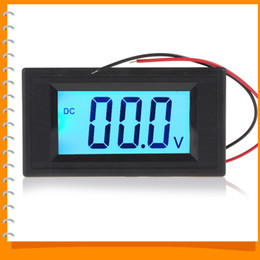 Wholesale-YB5135D DC 40-100V Portable Mini Digital Voltmeter Two Wire System Blue Backlight LCD Display Volt Meter Tester