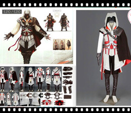 Wholesale Assassins Creed Ezio Cosplay - Best assassins creed high quality Various Sizes Halloween Costume Assassin Creed Ezio Adult Costume Cosplay Costume for sell