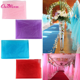 Wholesale Chair Decorations For Party - 10m Length Organza Sheer Organza Fabric Swags for Romantic Wedding Party Table Chair Decoration Many Color Available