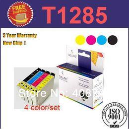 Wholesale Epson T1283 - Ink Cartridge T1285 (4 color set)T1281 T1282 T1283 T1284 for Epson Stylus SX130 S22 SX225 SX425W SX435W SX445W Printer