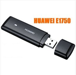 Wholesale Huawei Usb For Modem - Original Portable Mini Huawei E1750 WCDMA 3G USB Wireless Network Card SIM Card Adapter Wifi Modem For PC Tablet Android System