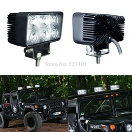 Wholesale Led Lights For Motor Bikes - 2PCS 18W LED Work Light Bar Lamp for Jeep Motorcycle Tractor Boat Off Road 4WD 4x4 Motor Bike Truck SUV ATV Spot Flood 12v 24v