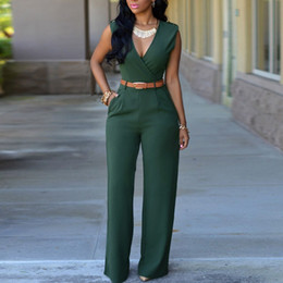 Commercio all'ingrosso nuovi pagliaccetti sexy delle donne tuta senza maniche con scollo a V fasciatura bodycon tute pantaloni tuta tuta Clubwear Plus Size da