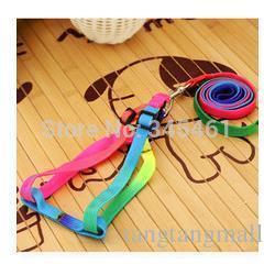 Wholesale Cheap Leashes For Dogs - 5X Pet Belts Adjustable Length Rainbow colors Pet Leashes Cheap Comfortable training Race dog Belts Festive decoration for dog