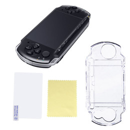 Wholesale Vita Protector - 1pcs New Crystal Clear Case Plastic Protective Shell Cover for Sony PSP 1000 2000 Game Console Crystal Body Protector