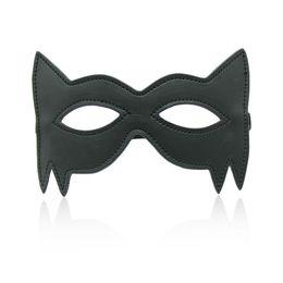 Wholesale Halloween Adult Fancy Dress - w1031 Faux Leather Sexy Eye Mask Cat Mask Hen Party Fancy Dress Cosplay Adult fun
