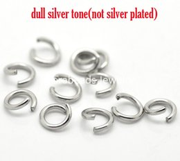 "Wholesale Split Open Jump Rings - Free Shipping! Silver Tone Stainless Steel Open Jump Rings 6mm(1 4""), Cadmium Free,sold per lot of 500 (B17923)"