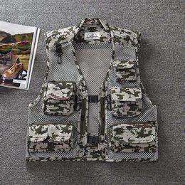 5 colores de los hombres al aire libre de camuflaje militar chaleco de malla táctica caza chalecos sin mangas chaquetas para fotógrafo chaleco desde fabricantes