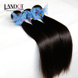 Wholesale Indian Remy Hair Weave Wholesale - 3Pcs Lot Indian Virgin Hair Straight 100% Human Hair Weave Bundles Cheap Unprocessed Raw Virgin Indian Remy Hair Extensions Double Wefts