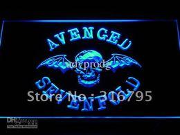 Wholesale Neon Lights Logo - c113-b Avenged Sevenfold Band Bar Logo Neon Light Sign